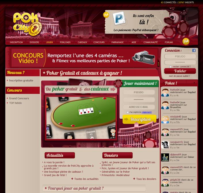 creation Création site de poker en ligne >> Pokcity